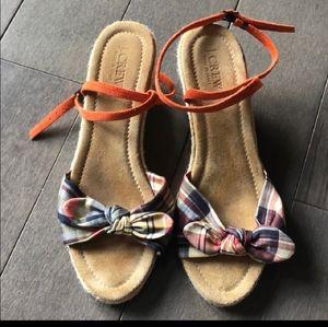 J Crew Plaid Espadrille Sandal Size 8